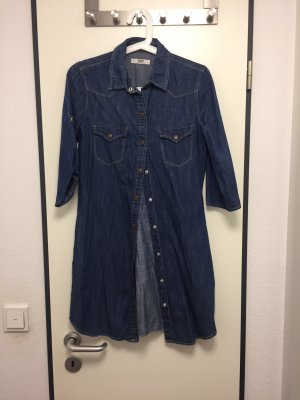 Mango Denim & Tees Denim Dress dark blue