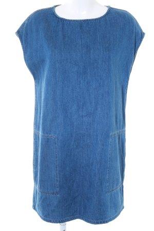 Mango Jeanskleid blau Bleached-Optik