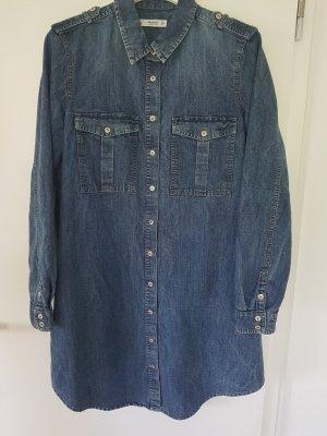 Mango Denim & Tees Denim Dress steel blue-light grey cotton