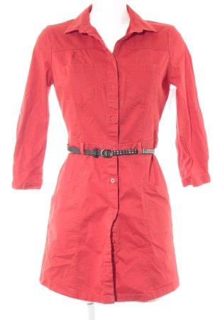 Mango Jeanskleid rot Casual-Look