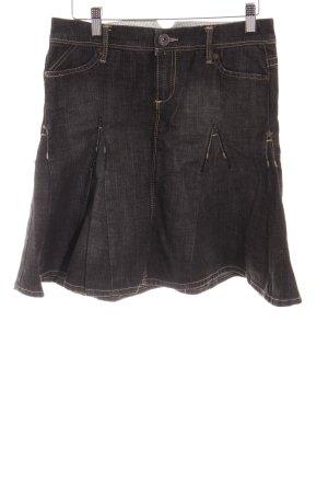Mango Jeansrock dunkelgrau-wollweiß Street-Fashion-Look