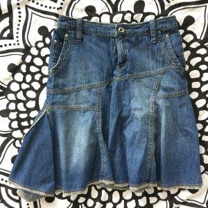 Mango Jeansrock Gr. 34 Jeans Rock Faltenrock