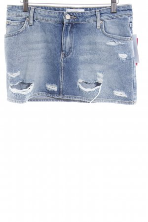 Mango Jeansrock himmelblau-blassblau Street-Fashion-Look