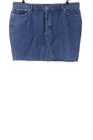 Mango Gonna di jeans blu acciaio stile casual