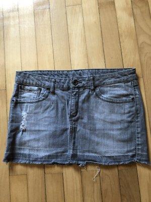 Mango Jeans Mini rok lichtgrijs Katoen