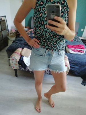 Mango Shorts bianco-azzurro