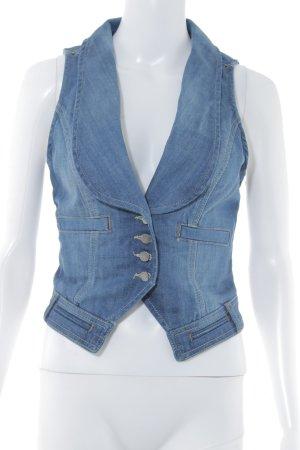 Mango Jeansweste blau Jeans-Optik