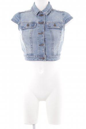 Mango Denim Vest cornflower blue-azure casual look