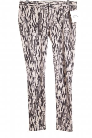 Mango Jeggings schwarz-altrosa Animalmuster Animal-Look