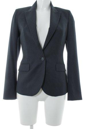 Mango Jersey blazer donkerblauw-wit krijtstreep zakelijke stijl