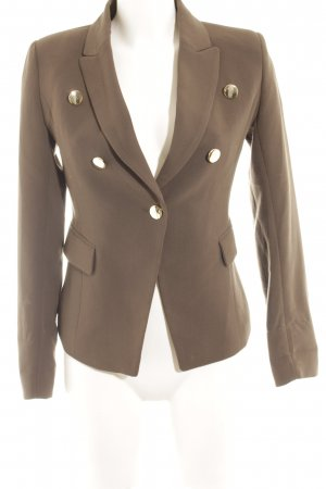 Mango Jerseyblazer khaki-goldfarben Business-Look