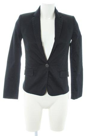 Mango Jersey blazer zwart zakelijke stijl