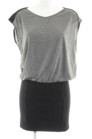 Mango Jerseykleid schwarz-grau Casual-Look