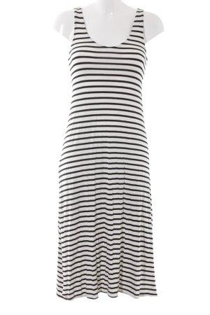 Mango Jerseykleid schwarz-wollweiß Streifenmuster Street-Fashion-Look
