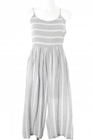 Mango Jumpsuit azure-natural white striped pattern casual look