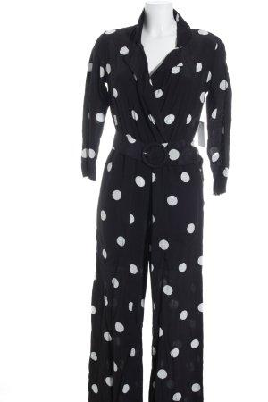 Mango Jumpsuit black-white spot pattern street-fashion look
