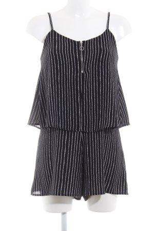 Mango Jumpsuit schwarz-weiß Streifenmuster Casual-Look