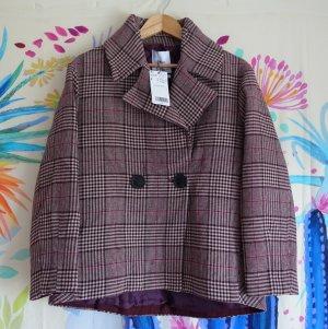 Mango Suit Abrigo corto multicolor Algodón