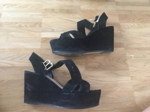 Mango Wedge Sandals black