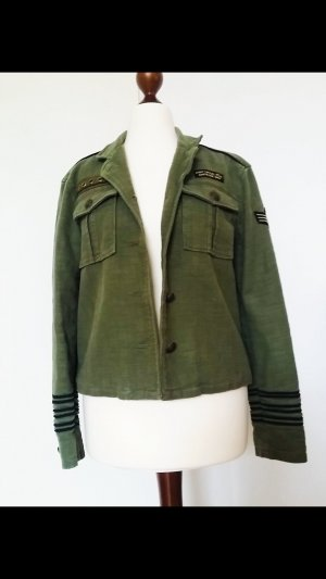 Mango Khaki Military Blazer Jacke Neu