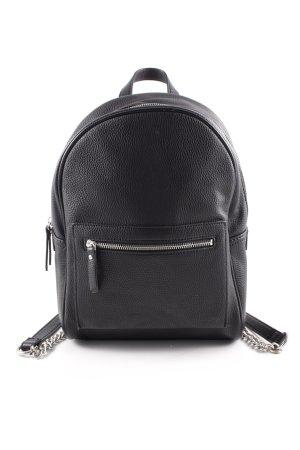 Mango Mini sac à dos noir style décontracté