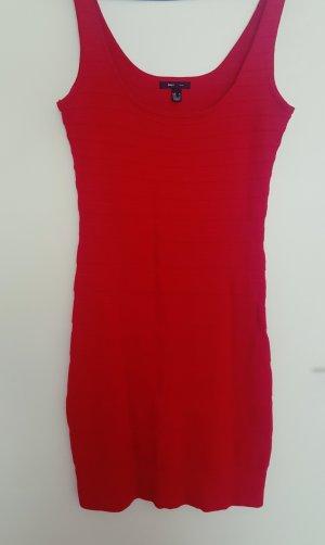 Mango Vestito di lana rosso mattone