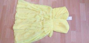 Mango Suit Off the shoulder jurk geel