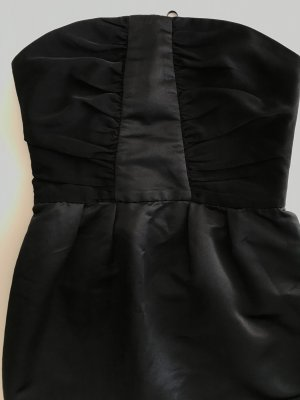 Mango Suit vestido de globo negro Poliéster