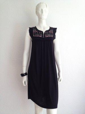 Mango Kleid Black Pailletten XS + Armband XS