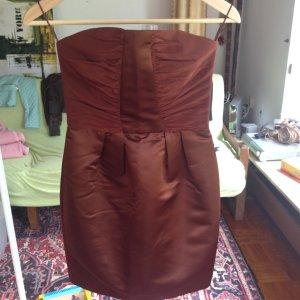 Mango Dress cognac-coloured