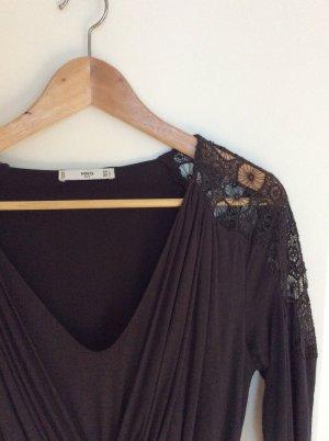 Mango Suit Robe à manches longues gris lilas-gris anthracite