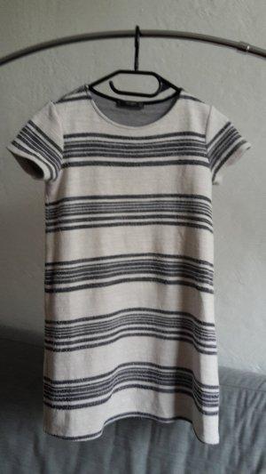 Mango Kleid gestreift XS 34 beige grau