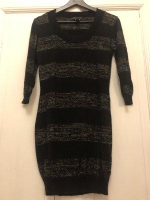 Mango Kleid Gold schwarz