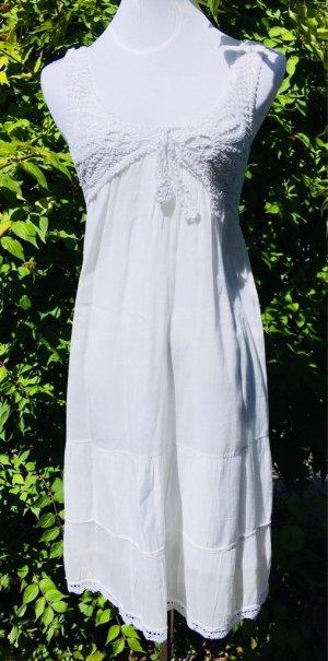Mango Midi-jurk wit