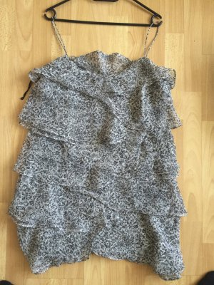 MANGO Kleid grau/schwarz