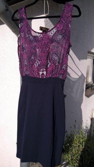 MANGO Kleid Größe S Chiffonoberteil und Bleistiftrockteil