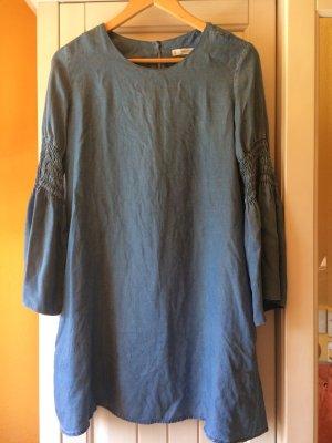 Mango Cut out jurk veelkleurig Gemengd weefsel