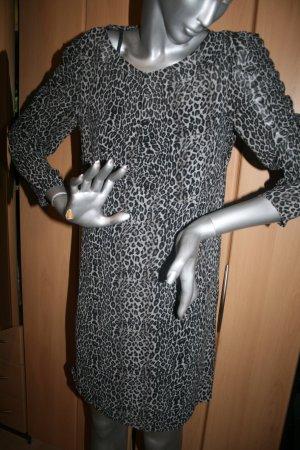 Mango Kleid Leoprint mit Unterkleid Gr. L