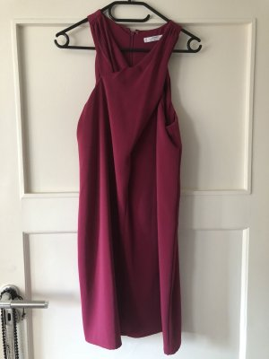 Mango Chiffon Dress magenta-violet