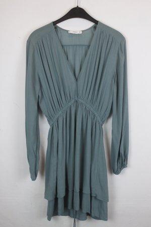 Mango Kleid Midikleid Gr. S blaugrün (18/3/144)