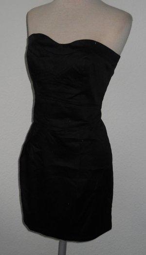 Mango Kleid Minikleid trägerlos Bandeaukleid schwarz Rockabilly Neu L gothic