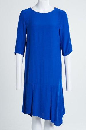 Mango Volante jurk blauw