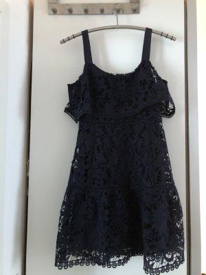 Mango Midi Dress dark blue