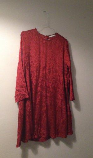 MANGO Kleid NEU mit Etikett Gr. L mit Spitzenmuster - seidig, Satin, Spitze