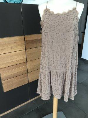 Mango Kleid Nougat mit Perlen Gr.M