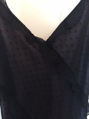 Mango Avondjurk zwart-grijs-lila