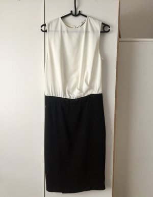 MANGO Kleid- schwarz weiß/ Pencilskirt Optik