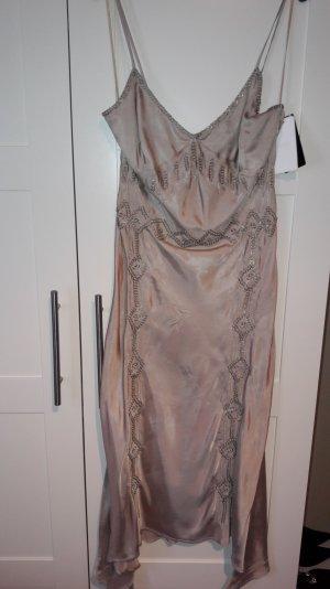 Mango Kleid slipdress Gr. S nude bestickt Silvester NEU mit Etikett!