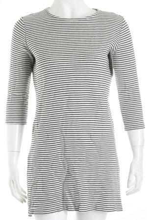 Mango Kleid weiß-schwarz Streifenmuster sportlicher Stil