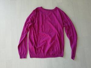 Mango Knit Feinstrick Pulli Pullover Beere